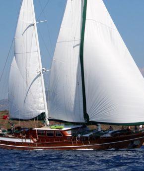 Luxury motor sailing yacht